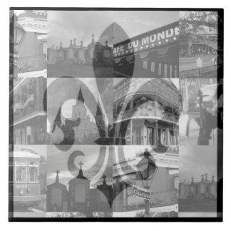 New Orleans Collage [Tile] Large Square Tile