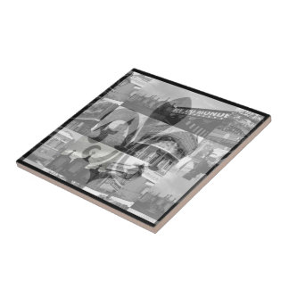New Orleans Collage [Trivet] - Small Small Square Tile