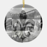 New Orleans Collage v.2 [Ornament] Double-Sided Ceramic Round Christmas Ornament