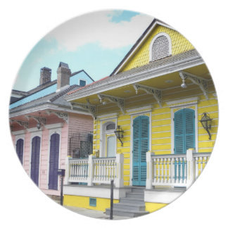 New Orleans Colorful Houses Plate