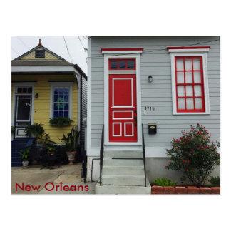 New Orleans Colorful Shotgun Houses Postcard