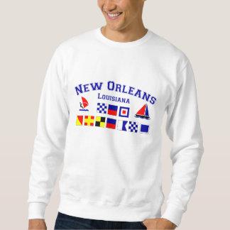 New Orleans con las banderas marítimas Sudadera Con Capucha
