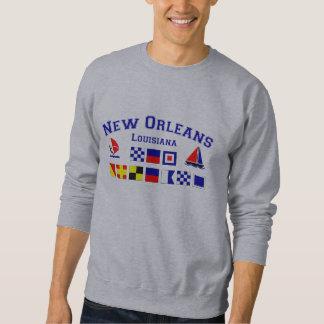 New Orleans con las banderas marítimas Suéter