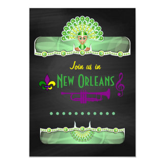 New Orleans Corporate Party Chalkboard personalize Card