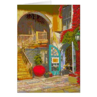 New Orleans Courtyard card