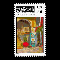 New Orleans Courtyard stamps
