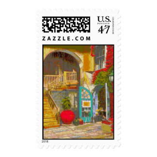 New Orleans Courtyard Postage