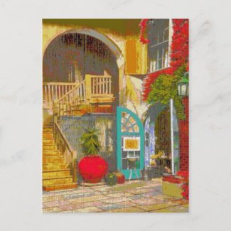 New Orleans Courtyard postcard