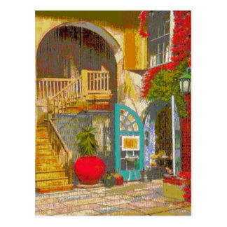 New Orleans Courtyard Postcard