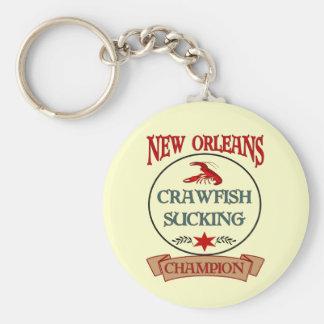 New Orleans Crawfish Champ Basic Round Button Keychain