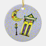 New Orleans Crescent Moon Christmas Christmas Tree Ornaments