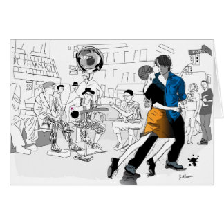 New Orleans Dance Greeting Card
