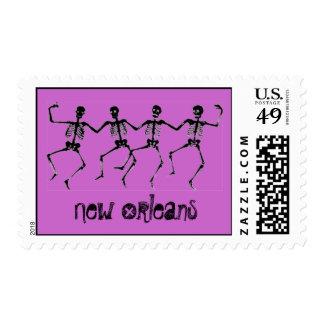 New Orleans Dancing skeletons Postage Stamps