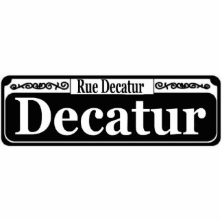 New Orleans Decatur St Sign Statuette