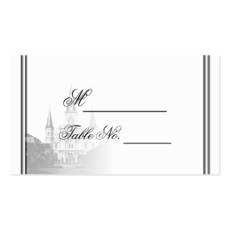 New Orleans Destination Wedding Place Card Double-Sided Standard Business Cards (Pack Of 100)