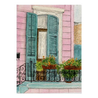 New Orleans Doors with Shutters Poster