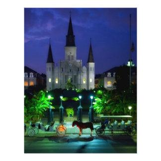 New Orleans en la noche Plantillas De Membrete