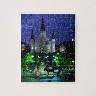 New Orleans en la noche Rompecabeza
