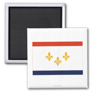New Orleans Flag 2 Inch Square Magnet