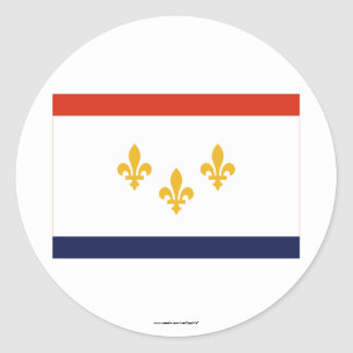 New Orleans Flag Classic Round Sticker