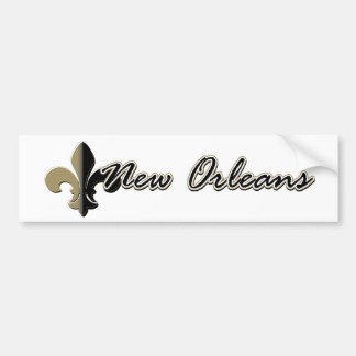 New Orleans Fleur de lis bk gd Bumper Sticker