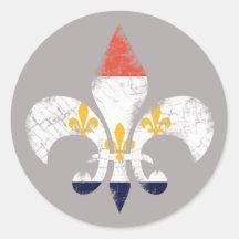 CELEBR8 NOLA Design Louisiana Flag Stickers 9 Pack New Orleans Bubble-Free Sticker