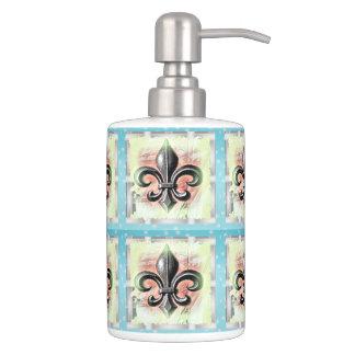 New Orleans Fleur-de-Lis Pastel Bathroom Set