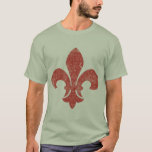 New Orleans Fleur De Lis Water Meter Lid T-Shirt