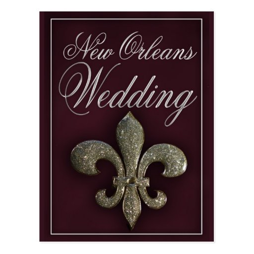 New Orleans fleur-de-lis wedding Postcard