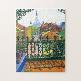 New Orleans French Quarter Balcony Jigsaw Puzzle