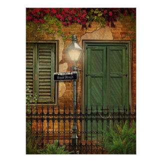 New Orleans French Quarter Brick & Stucco Posters