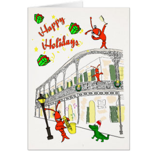 New Orleans French Quarter Happy Holidays Card