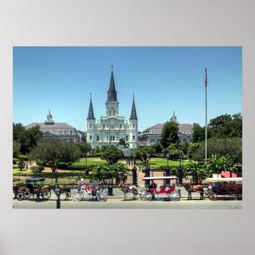 New Orleans French Quarter Jackson Square Print