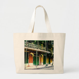 NEW ORLEANS FRENCH QUARTER LARGE TOTE BAG