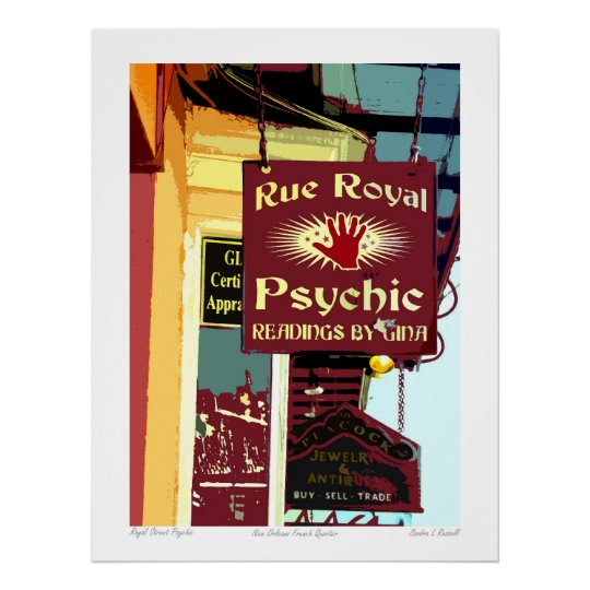 New Orleans French Quarter Psychic Poster