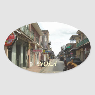 New Orleans French Quarter Oval Sticker