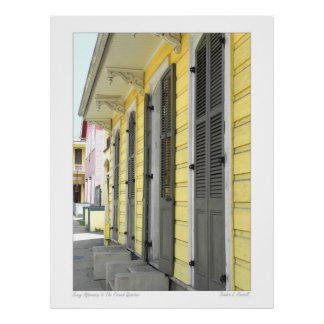 New Orleans French Quarter Street Scene Poster