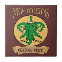 New Orleans Gator Fest tiles