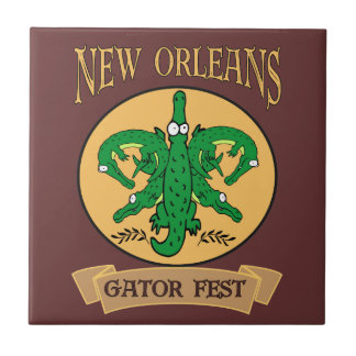 New Orleans Gator Fest Ceramic Tile