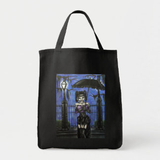 New Orleans Goth by Streetlamp Grocery Tote Bags