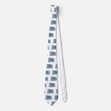 USA Themed New Orleans Greys Flag Tie