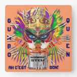 New Orleans Gumbo Queen View Hints plse Square Wallclocks