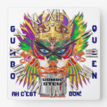 New Orleans Gumbo Queen View Hints plse Wall Clock