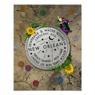 New Orleans Iconic Water Meter Poster
