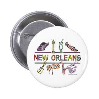 New-Orleans-ICONS- copy 2 Inch Round Button