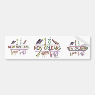 New-Orleans-ICONS- copy Bumper Sticker