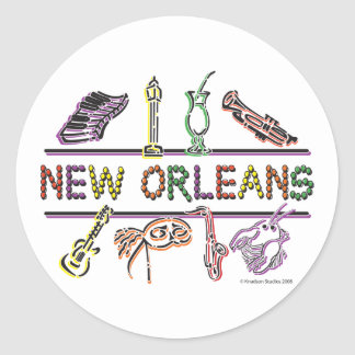 New-Orleans-ICONS- copy Round Stickers