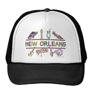 New-Orleans-ICONS- copy Trucker Hat