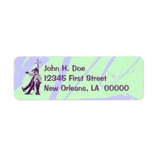 New Orleans Inebriated Man Return address labels