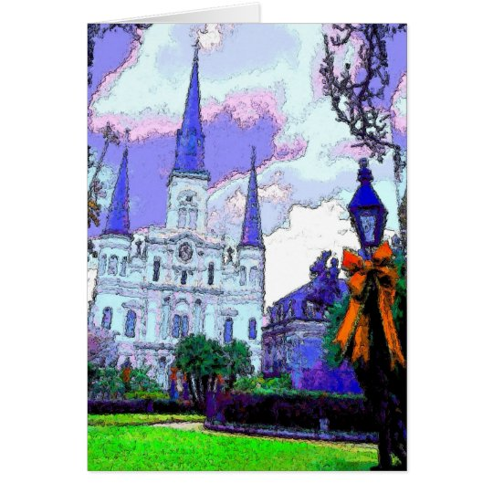 New Orleans Jackson Square at Christmas Card
